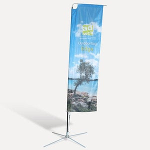 "Beachflag ""Edge"" incl. print, base and bag"
