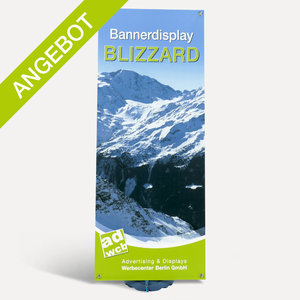 "Bannerdisplay ""Blizzard"" with print + bag"