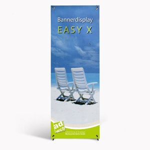 "Banner display ""Easy X"" incl. print + bag"