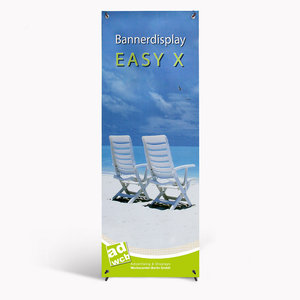 "Bannerdisplay ""Easy X"" 80x200cm with digitalprint"