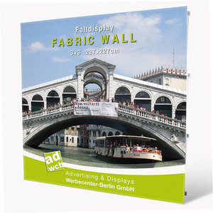 "Pop-Up Display ""Fabric Wall"" incl. print + trolley"