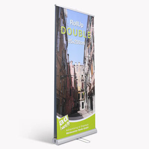 "Retractable banner ""Double"" incl. print + bag"