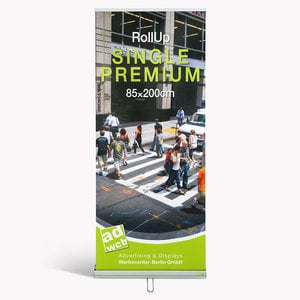 "Retractable Banner ""Single"" incl. print + bag"