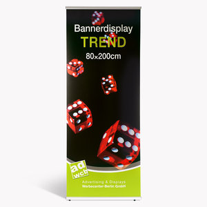 "Banner display ""Trend"" with print + bag"