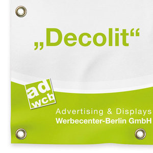 "fabric banner ""Decolit"" incl. digitalprint"