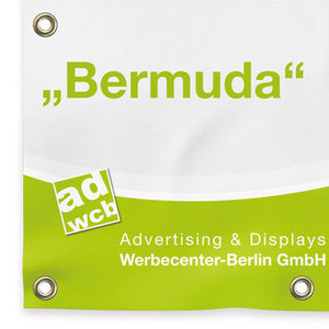"Fabric banner ""Bermuda"" with print"