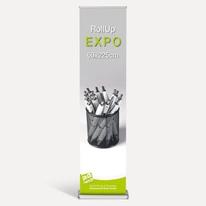 "RollUp ""Expo"" 60x225cm inkl. Druck + Tasche"