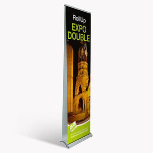 "RollUp ""Expo Double"" mit Druck"