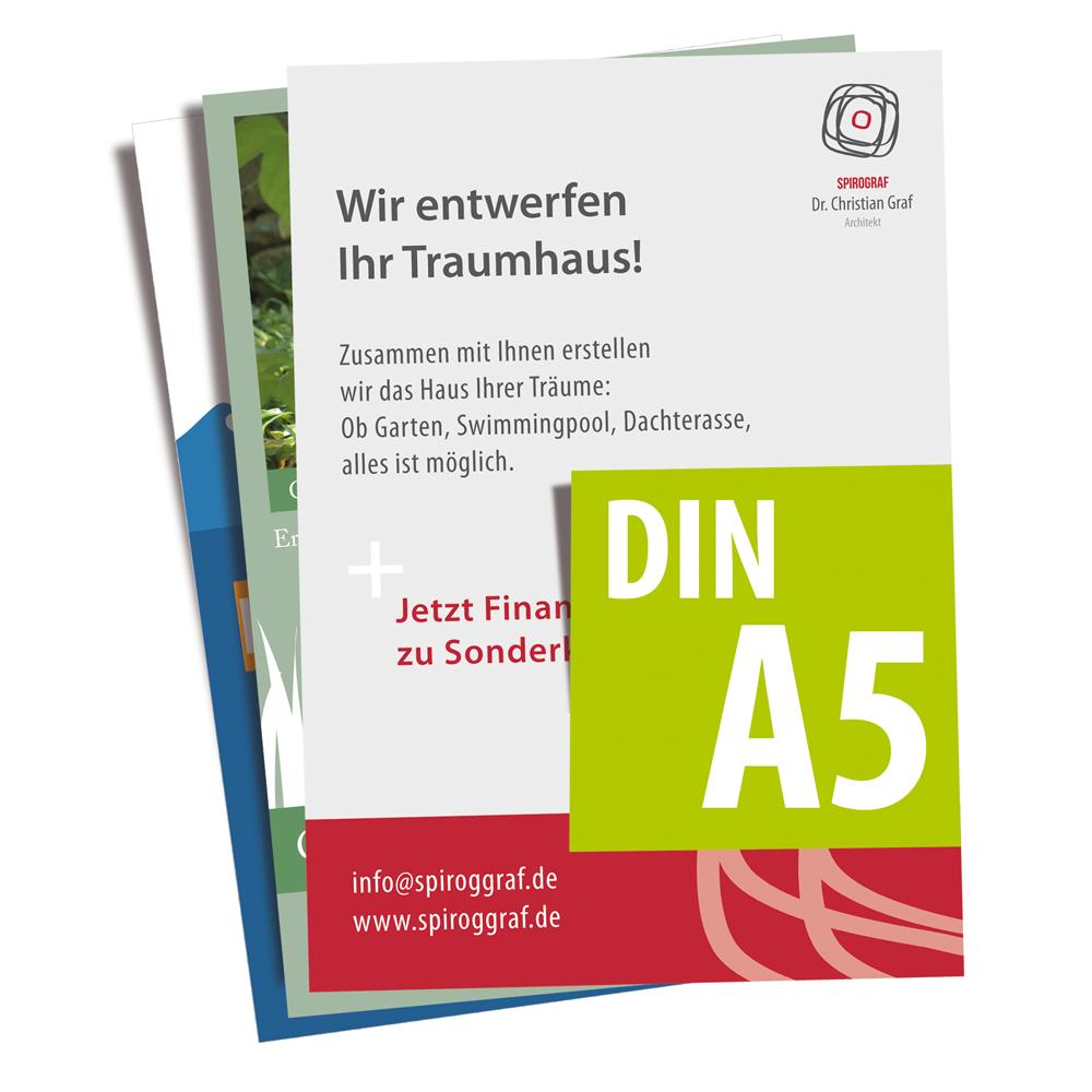 Leaflet Din A5 148x210mm 4 Cmyk 135g Qm Werbecenter Berlin Gmbh Brochure Flyer Custom