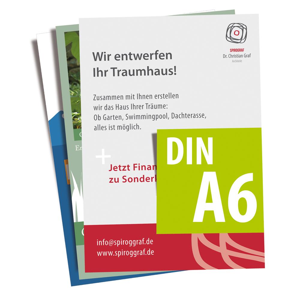 100 flyer din a6 4 4 cymk 250g qm werbecenter berlin gmbh. Black Bedroom Furniture Sets. Home Design Ideas