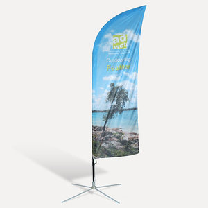 "Beachflag ""Feather"" incl. print, base and bag"