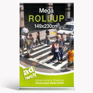 "Retractable banner ""Mega"" incl. print + bag"