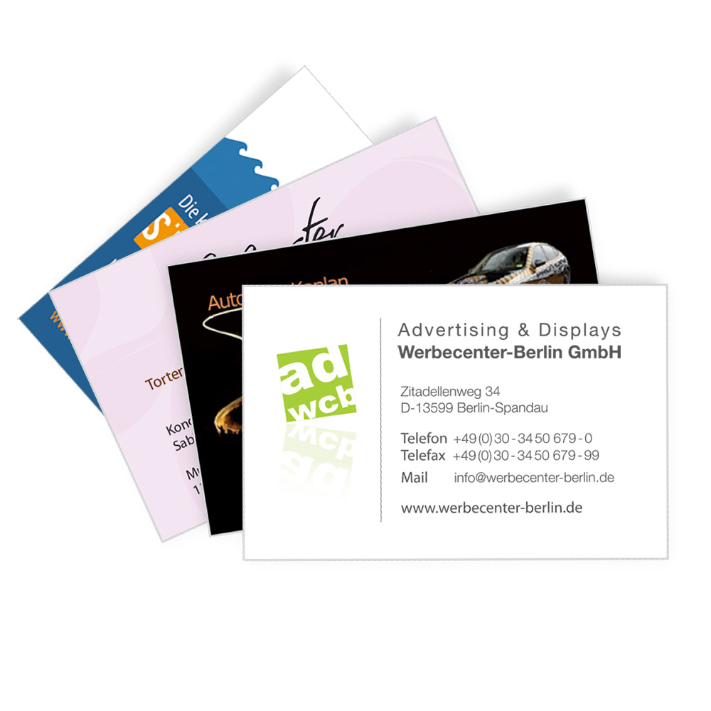 Business Card 4 0 Cmyk Onesided Advertising Displays