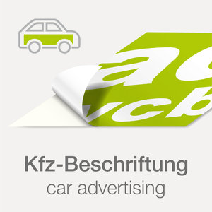 "Sticker with print ""car wrapping"""