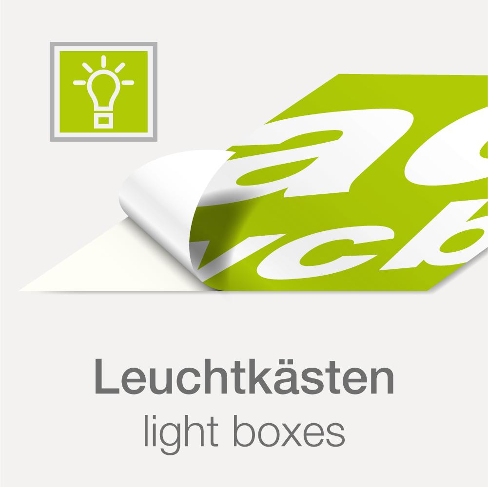 aufkleber f r leuchtwerbung werbecenter berlin gmbh. Black Bedroom Furniture Sets. Home Design Ideas