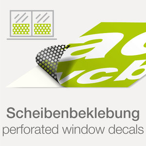 Windowfilm sticker with print
