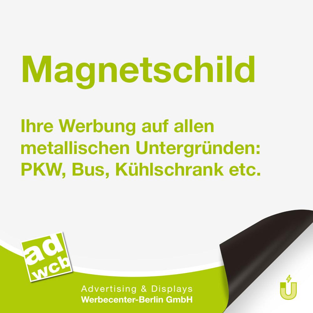 1 x Magnetschild inkl Druck und Schutzlaminat 60x50 cm