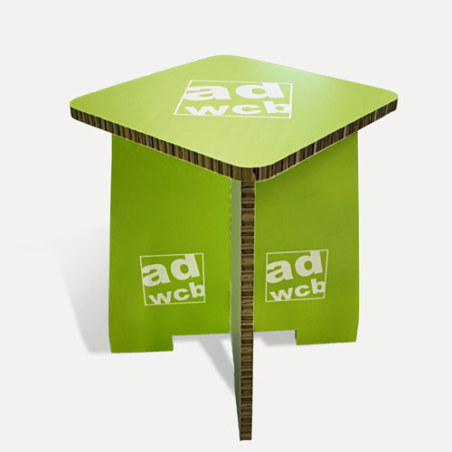 Cardboard stool with digital print with without edge for Papphocker berlin