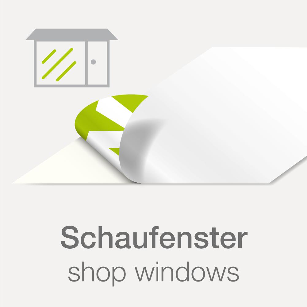 Shop Window Sticker Inside Pasting