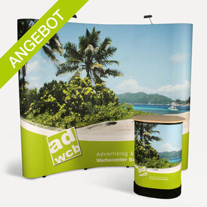 "Pop-Up display ""Curved Plus"" incl. print"