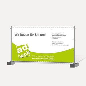 Construction Fence banner 340 x 175cm with print