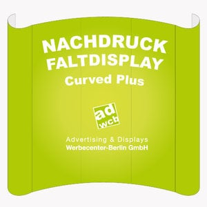 "Nachdruck Faltdisplays ""Curved Plus S"""