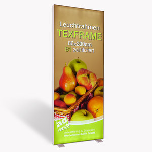 "Illuminated Display ""Texframe"" incl. print"