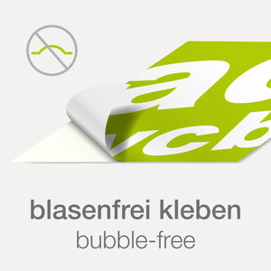 Bubble free sticker incl. print