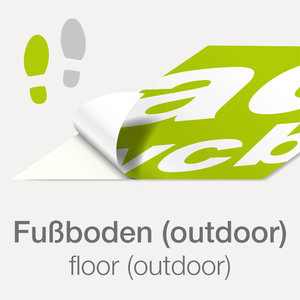 floor sticker (outdoor) with print