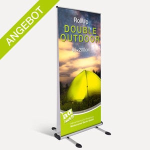 "Retractable banner display ""Double Outdoor"" incl. print + bag"