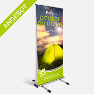 "RollUp ""Double Outdoor"" mit Druck"