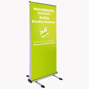 "Nachdruck RollUp ""Double Outdoor"" 85x200cm"