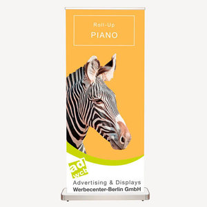 "Retractable Banner ""Piano"" incl. Print + bag"