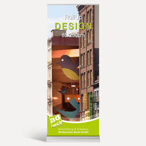 "RollUp ""Design"" 85x200cm + Digitaldruck + Tasche"