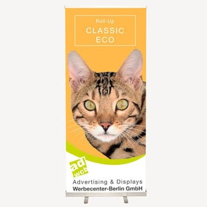 "Retractable banner stand ""Eco"" incl. print + bag"