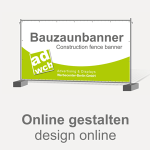 Construction Fence banner 340x175cm with print - design online
