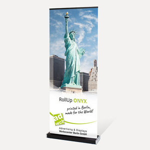 "Retractable banner ""Onyx"" with print"