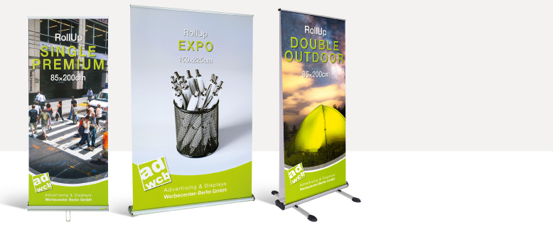 Low priced retractable banner stands